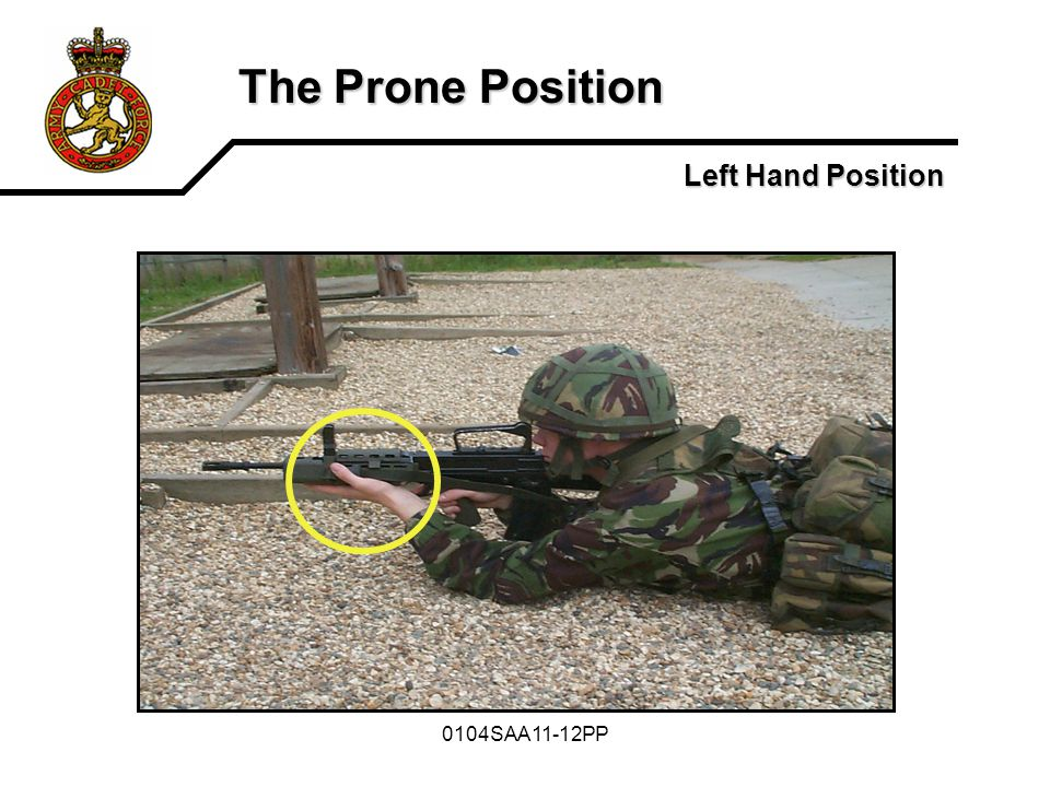 The Prone Position Left Hand Position 0104SAA11-12PP