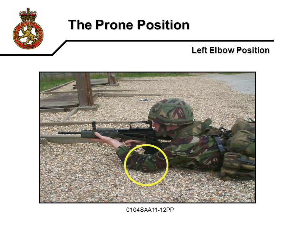 The Prone Position Left Elbow Position 0104SAA11-12PP