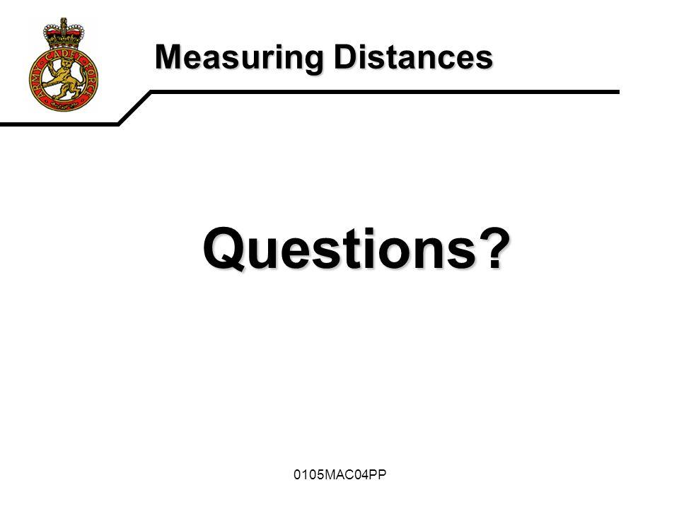 Questions Measuring Distances 0105MAC04PP