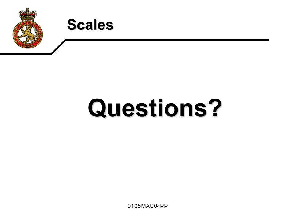 Questions Scales 0105MAC04PP How are scales represented