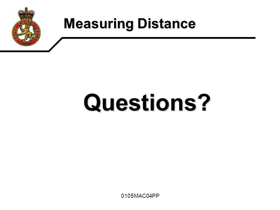 Measuring Distance Questions 0105MAC04PP