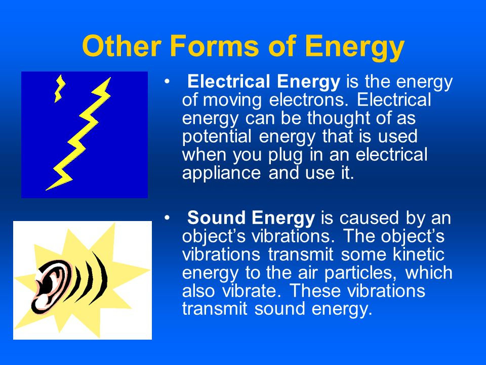 Other Forms of Energy