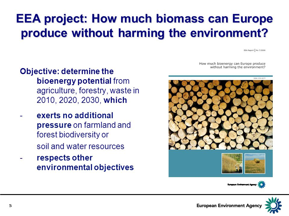 EEA project: How much biomass can Europe produce without harming the environment