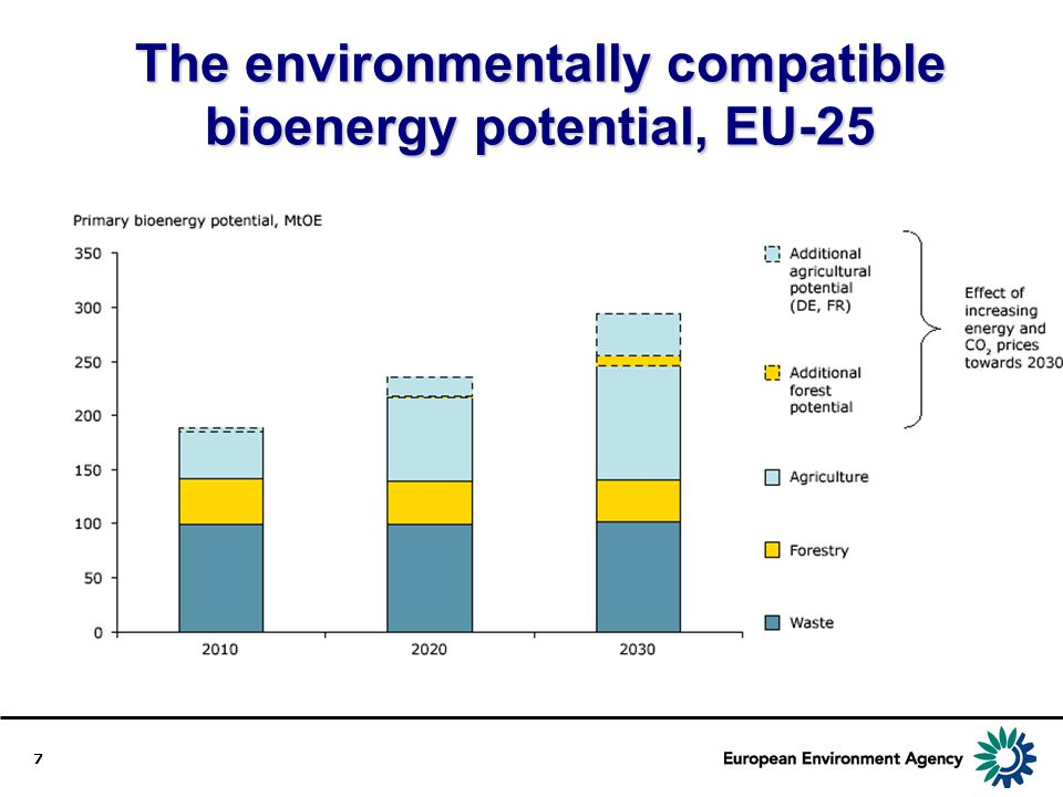 The environmentally compatible bioenergy potential, EU-25