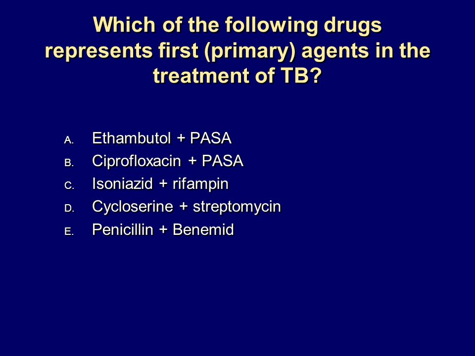Which of the following drugs represents first (primary) agents in the treatment of TB
