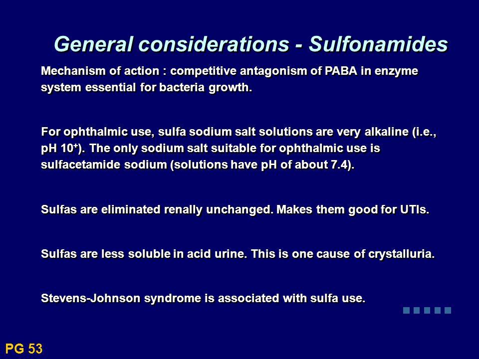 General considerations - Sulfonamides