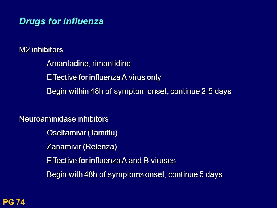 Drugs for influenza M2 inhibitors Amantadine, rimantidine