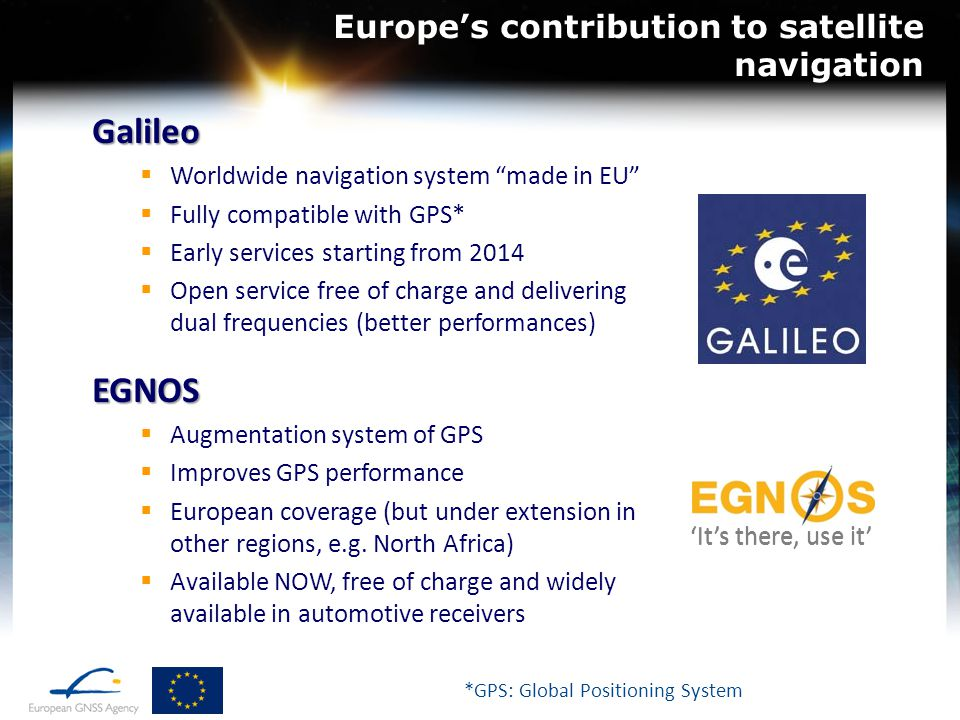 Europe's contribution to satellite navigation