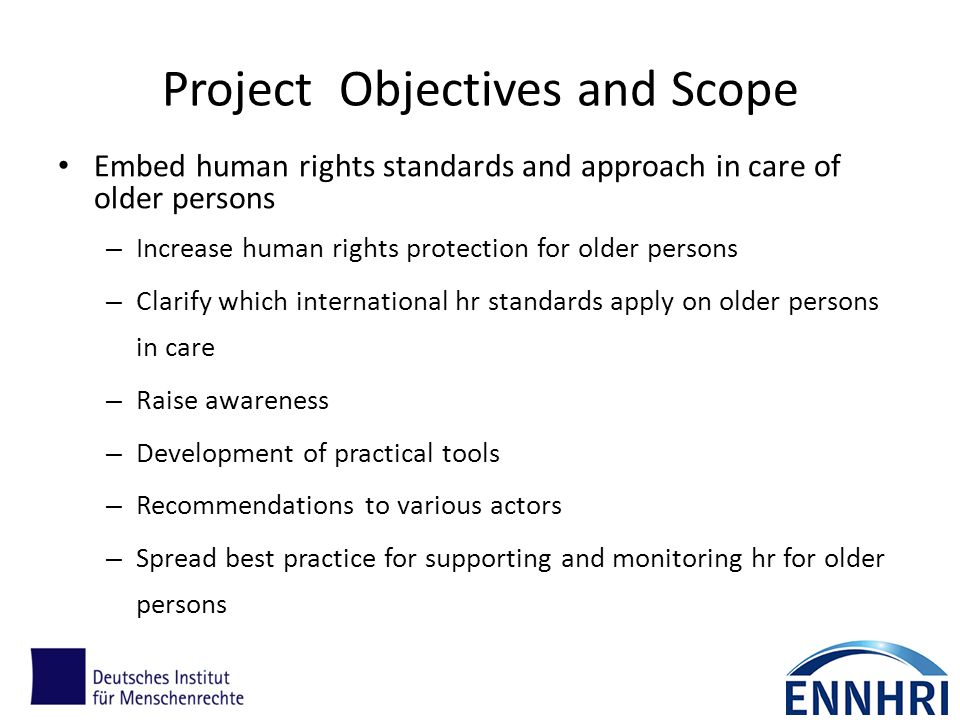 Project Objectives and Scope