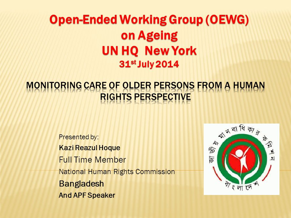 Monitoring Care of Older Persons from a Human Rights Perspective