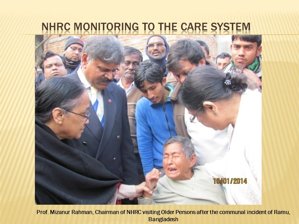NHRC Monitoring to the care system