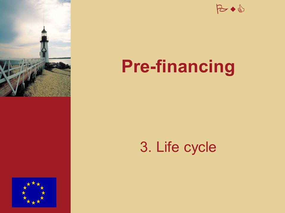 Pre-financing 3. Life cycle