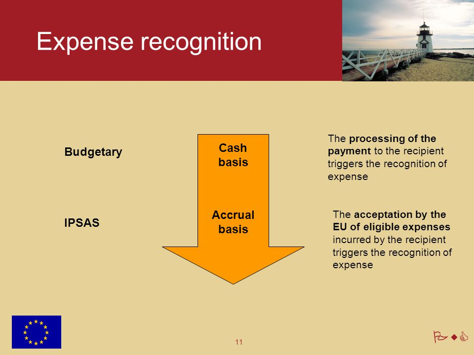 Expense recognition Cash basis Budgetary Accrual basis IPSAS