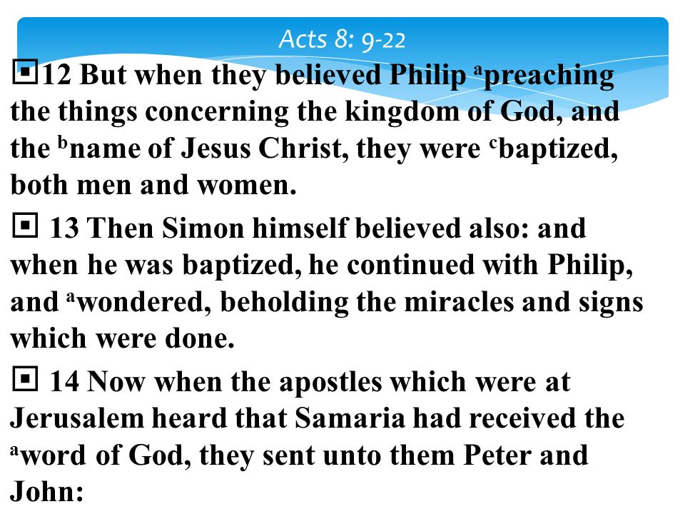 Acts 8: 9-22