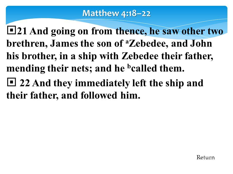 Matthew 4:18–22