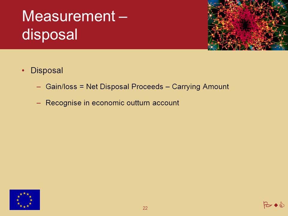 Measurement – disposal