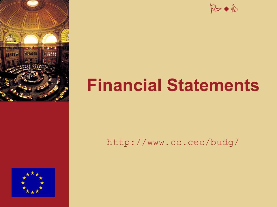 Financial Statements http://www.cc.cec/budg/