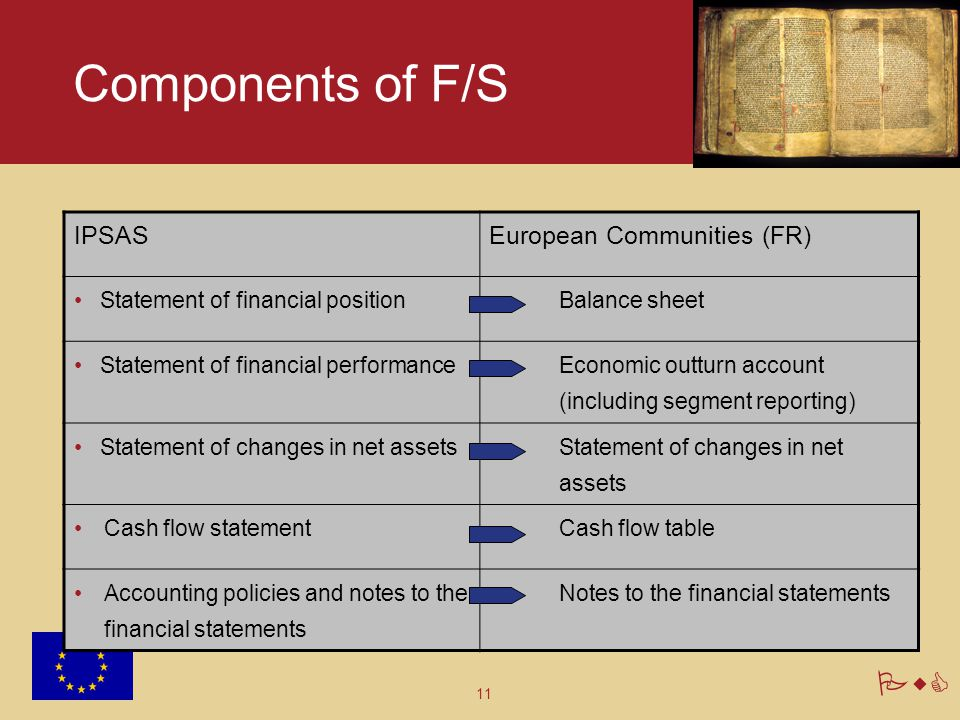 Components of F/S IPSAS European Communities (FR)