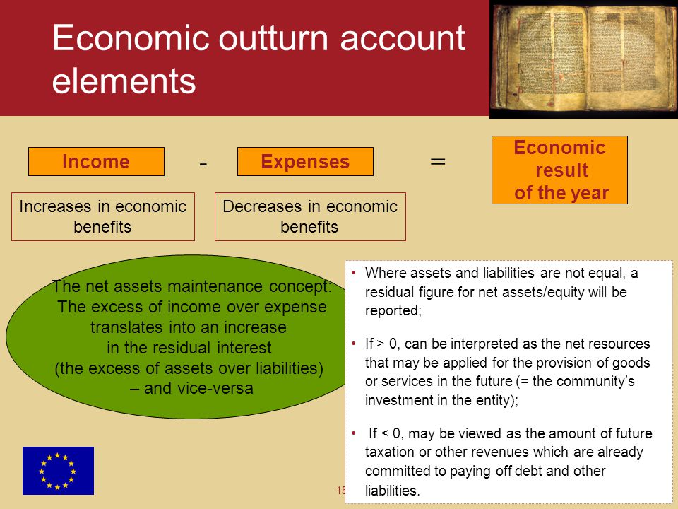 Economic outturn account elements