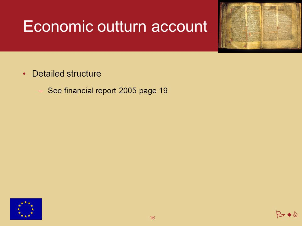 Economic outturn account