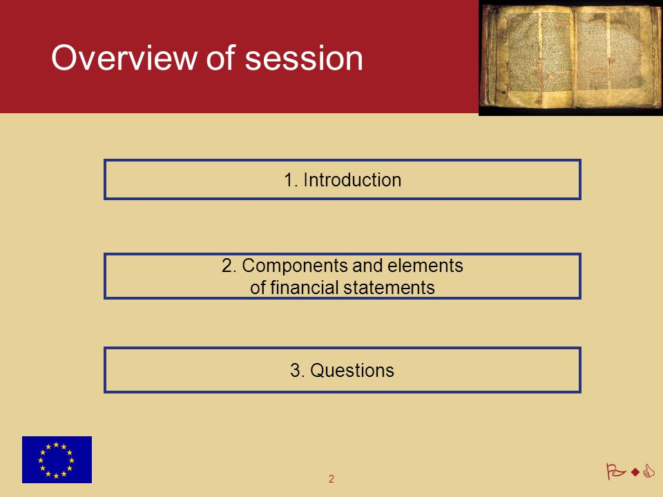 Overview of session 1. Introduction 2. Components and elements