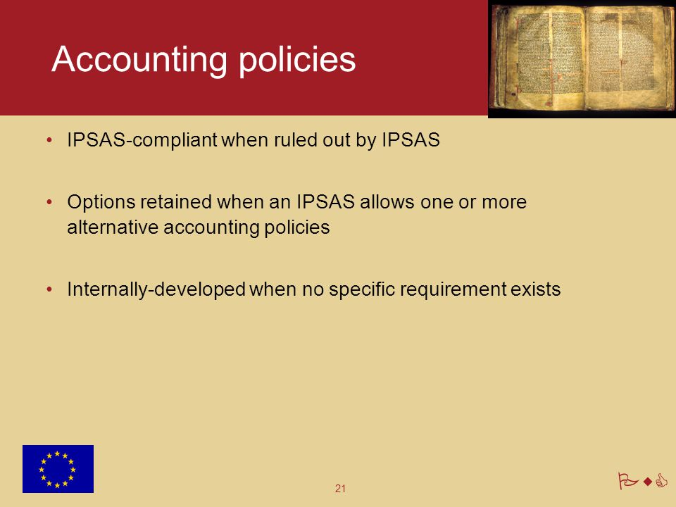 Accounting policies IPSAS-compliant when ruled out by IPSAS
