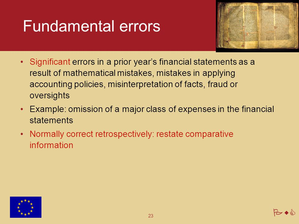 Fundamental errors