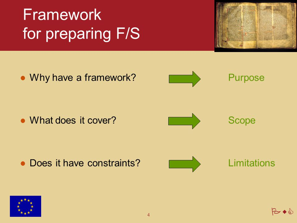 Framework for preparing F/S