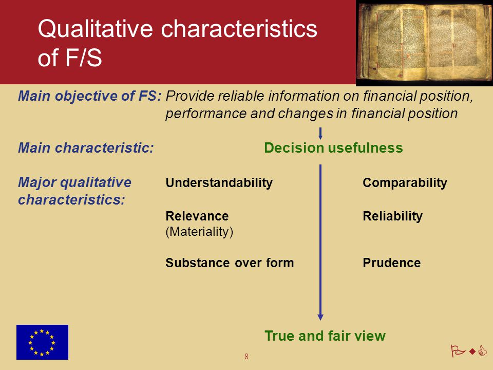 Qualitative characteristics of F/S
