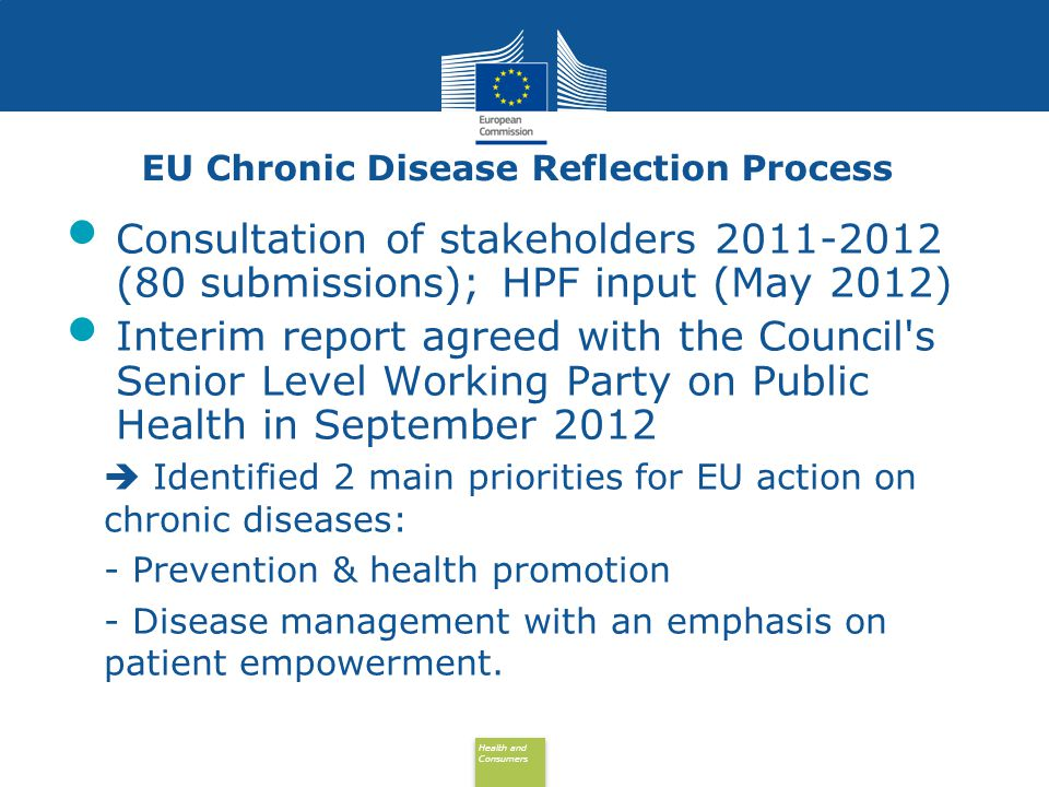 EU Chronic Disease Reflection Process