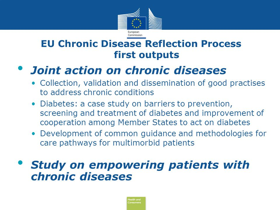 EU Chronic Disease Reflection Process first outputs