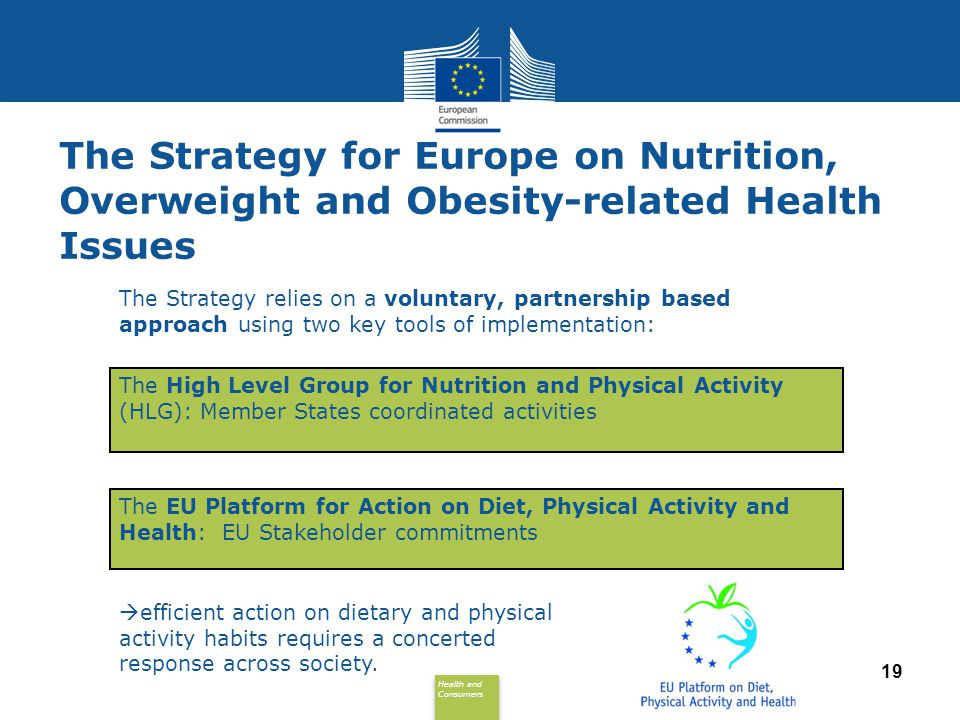 The Strategy for Europe on Nutrition, Overweight and Obesity-related Health Issues