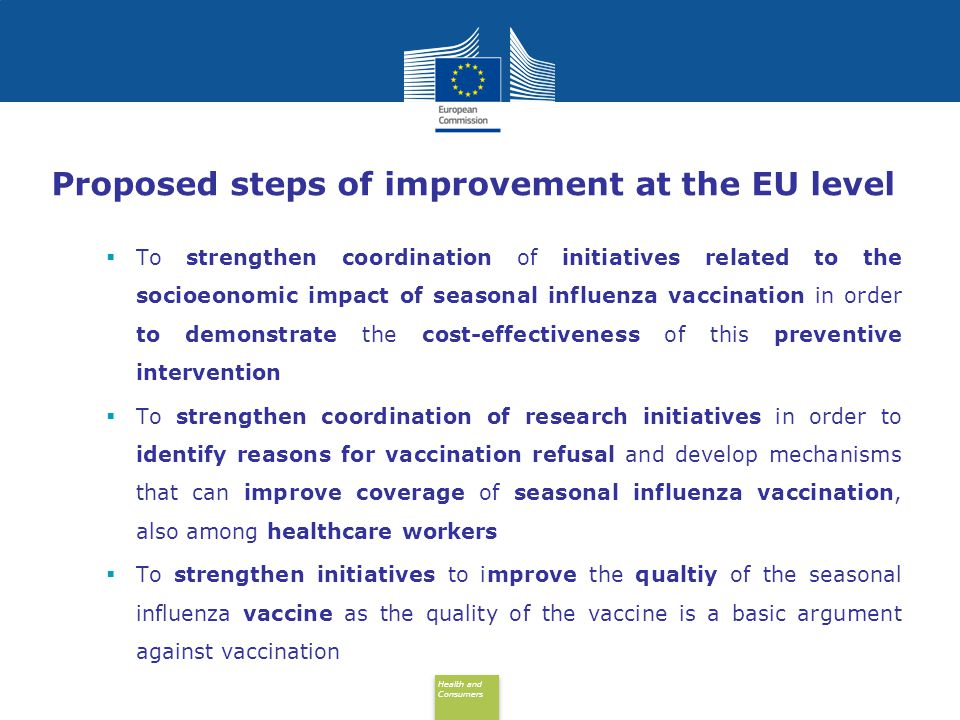 Proposed steps of improvement at the EU level