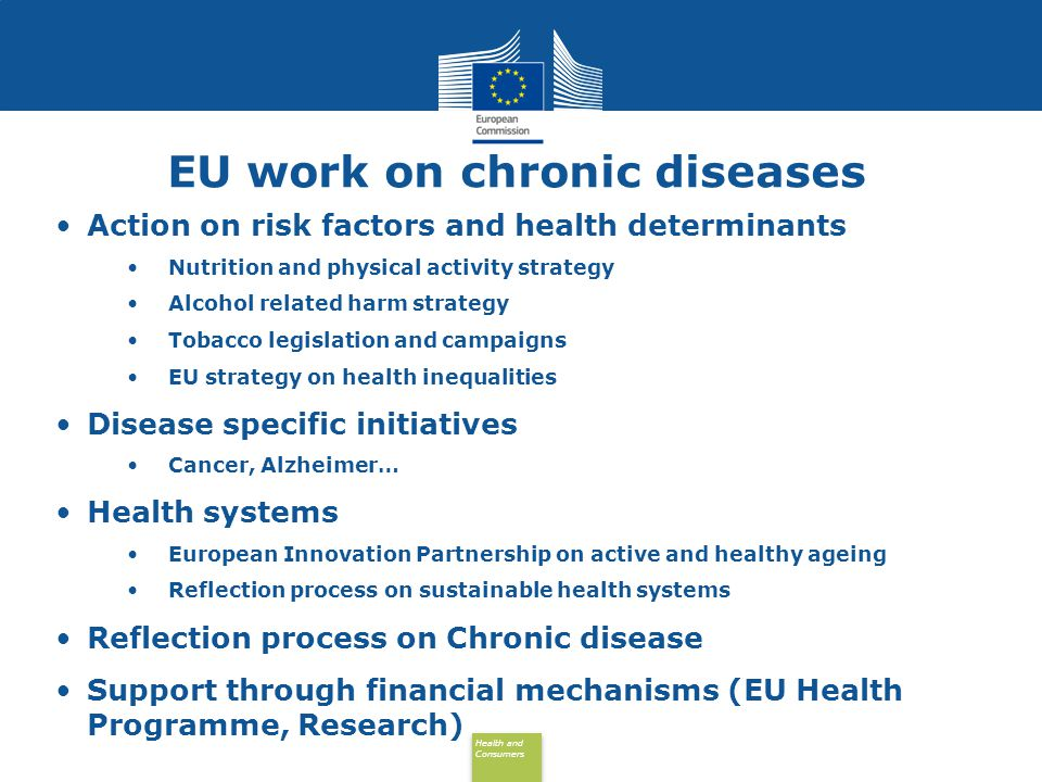 EU work on chronic diseases