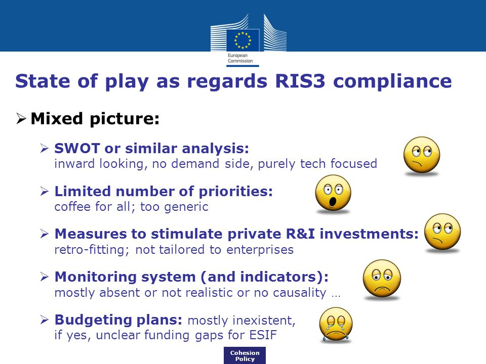 State of play as regards RIS3 compliance