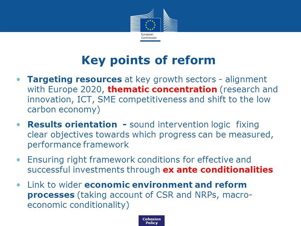 Key points of reform