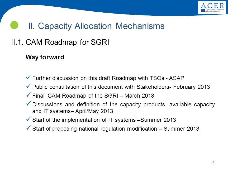 II. Capacity Allocation Mechanisms