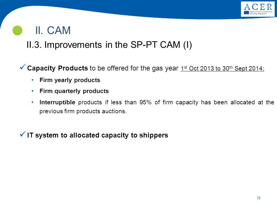 II. CAM II.3. Improvements in the SP-PT CAM (I)
