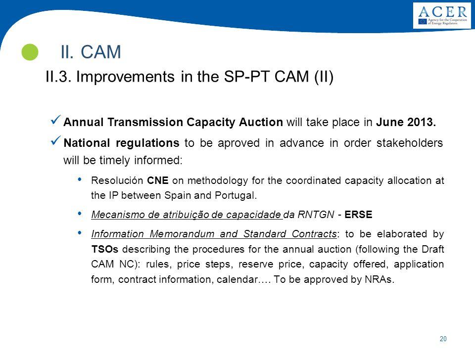 II. CAM II.3. Improvements in the SP-PT CAM (II)