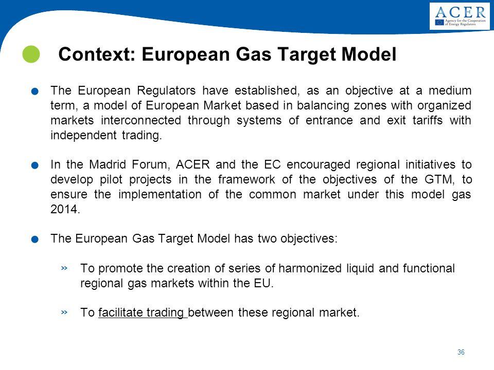 Context: European Gas Target Model