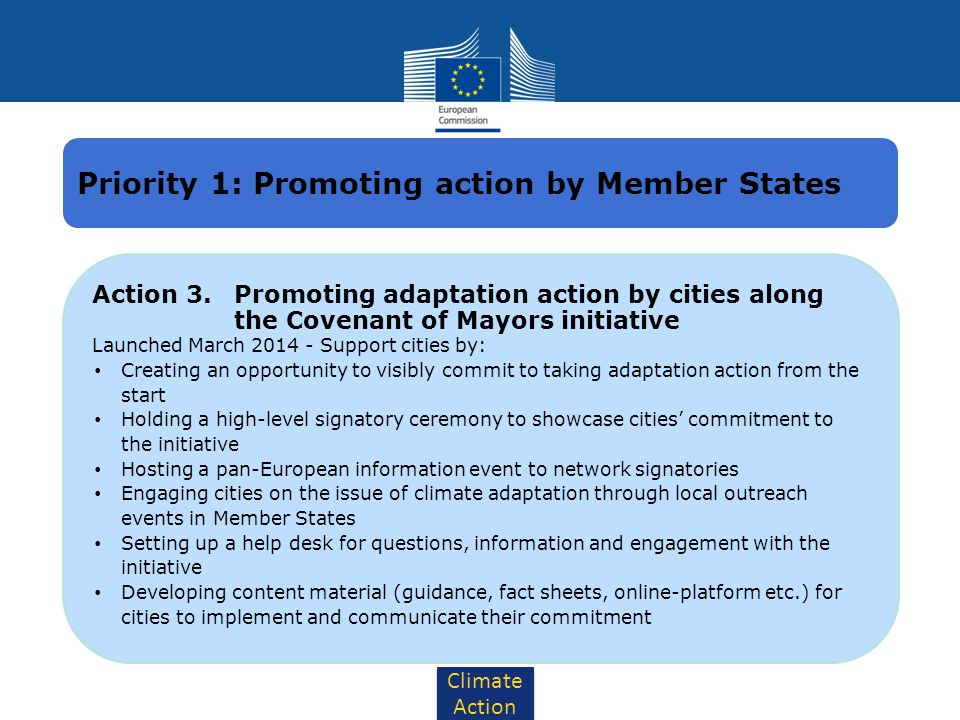 Priority 1: Promoting action by Member States