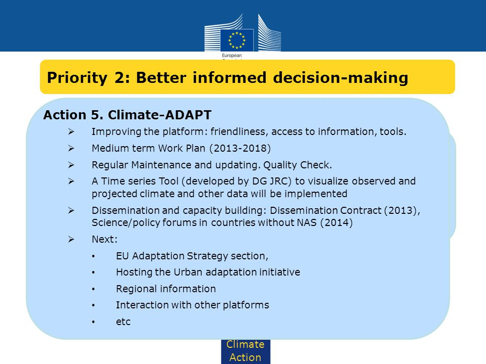 Priority 2: Better informed decision-making