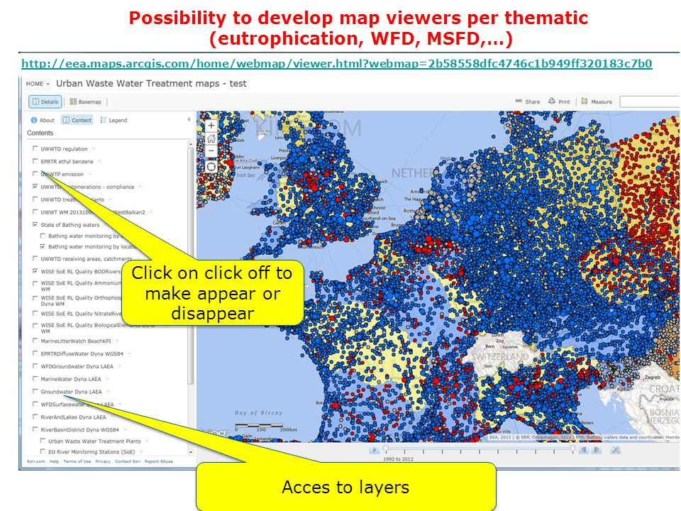 Possibility to develop map viewers per thematic