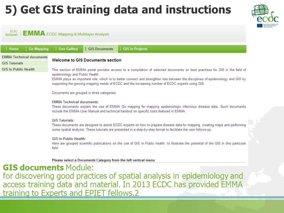 5) Get GIS training data and instructions