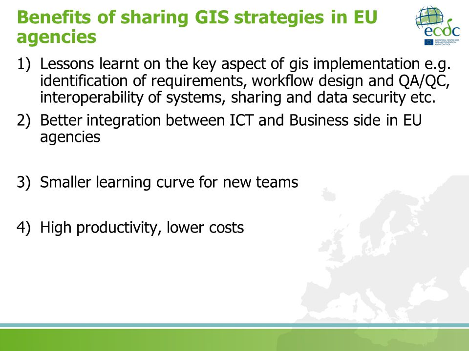 Benefits of sharing GIS strategies in EU agencies