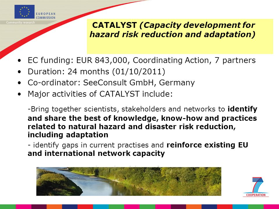 CATALYST (Capacity development for hazard risk reduction and adaptation)