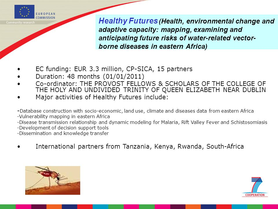 Healthy Futures (Health, environmental change and adaptive capacity: mapping, examining and anticipating future risks of water-related vector-borne diseases in eastern Africa)