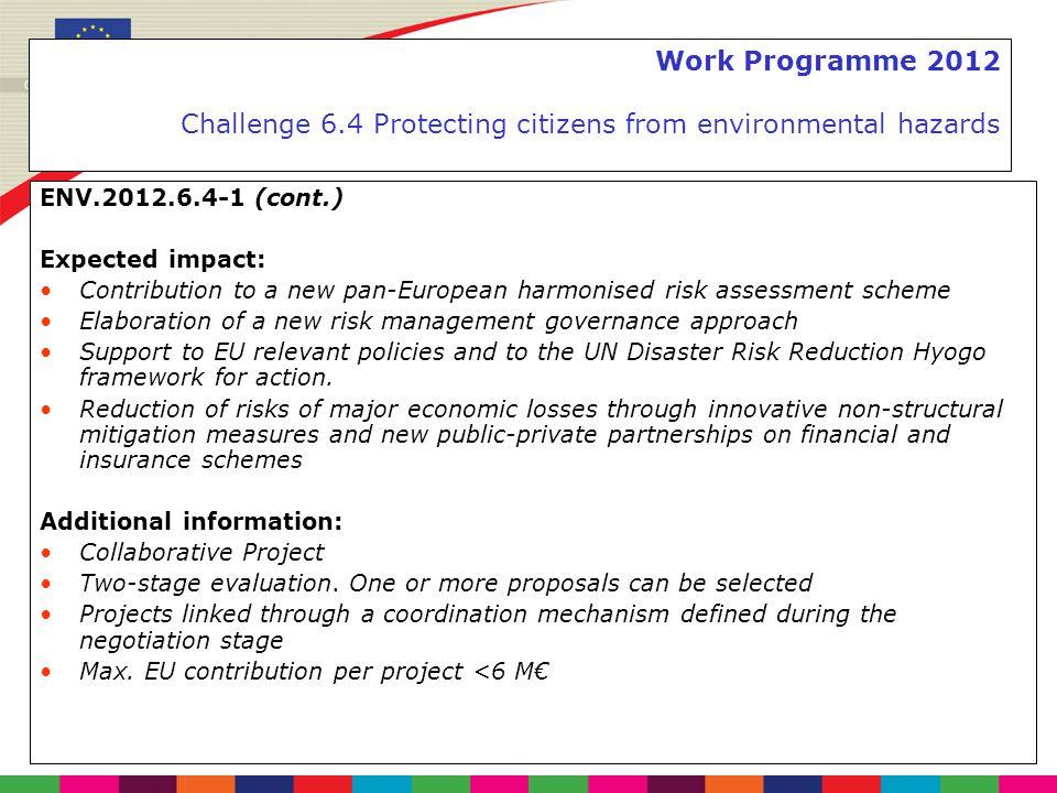 Work Programme 2012 Challenge 6