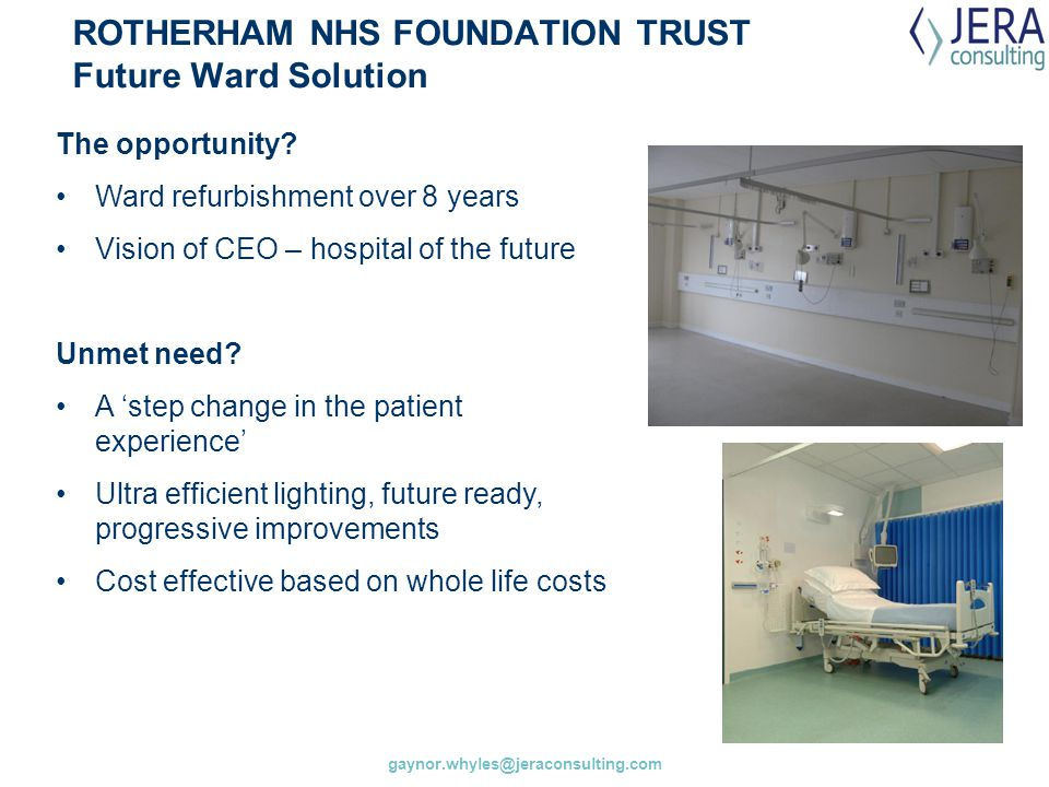 ROTHERHAM NHS FOUNDATION TRUST Future Ward Solution
