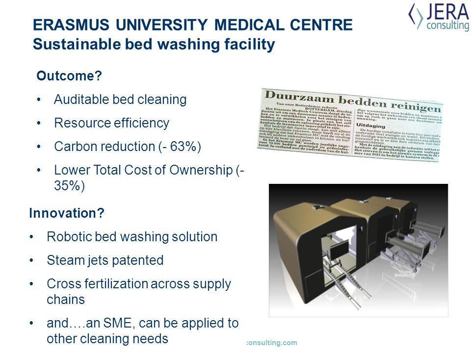 ERASMUS UNIVERSITY MEDICAL CENTRE Sustainable bed washing facility